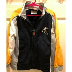 And1 Blue Grey White Yellow Boys Zip Up Jacket
